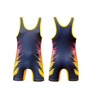 Hot design wholesale sublimated wrestling singlets